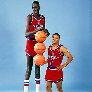 Tallest and shortest players in NBA history